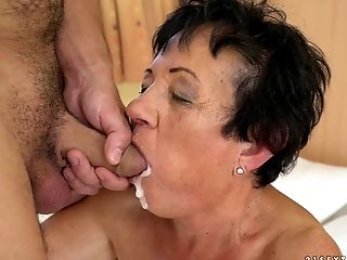 College, Dick, Granny, Mature,