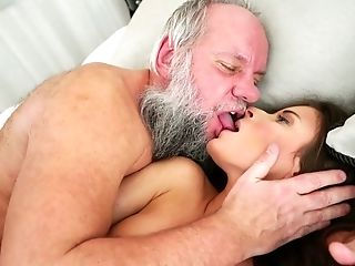 Beauty, Bedroom, Bizarre, Blowjob, Cumshot, Cute, Facial, Grandpa, Handjob, Kissing,