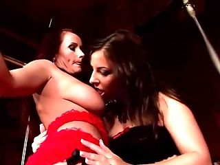Big Tits, Brazilian, Dildo, Katy Borman, Katy Parker, Lingerie, Maria Bellucci, Masturbation, Pornstar, Redhead,