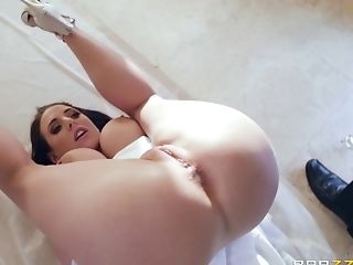Anal Toying, Angela White, Ass Fingering, Big Natural Tits, Big Tits, Blowjob, Bride, Brunette, Chubby, Couple,