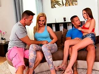 Austrian, Babe, Choking Sex, Couch, European, Ffmm, Foursome, Group Sex, Hardcore, Hungarian,