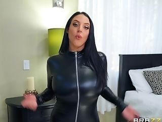 Angela White, Cumshot, Cute, Leather, Slut,