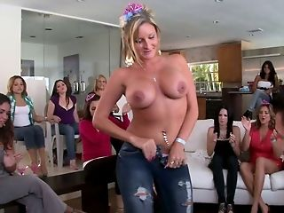 Big Tits, Blowjob, CFNM, Club, Dancing, Jeans, Party, Seduction, Striptease, Undressing,