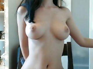 Amateur, Babe, Big Natural Tits, Big Tits, Brunette, Gorgeous, Homemade, Solo, Webcam,