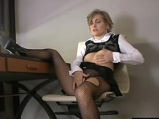 Amateur, Fingering, Mature, Office,