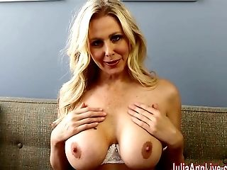 Big Tits, Blonde, Cute, Dildo, Fingering, Jerking, Julia Ann, Masturbation, Sex Toys, Solo,
