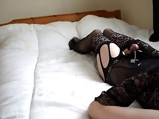 Amateur, Bodystocking, Crossdressing, HD, Jerking, Masturbation,