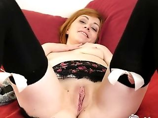 Amateur, Ginger, HD, Jerking, Lingerie, Webcam,