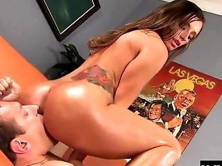 Babe, Couple, Dick, Felching, Hardcore, Licking, Long Hair, Oiled, Pornstar, Riding,