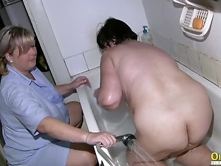 Amateur, Amazing, BBW, Granny, Hairy, Lesbian, Mature, Old, Shower,
