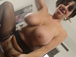 Ass, Big Tits, Blowjob, Brunette, Clamp, Couple, Cowgirl, Fake Tits, Fingering, Hardcore,