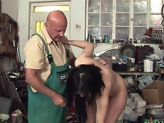 69, Ass Licking, Blowjob, Brunette, Doggystyle, Grandpa, Hardcore, Natural Tits, Old, Old And Young,