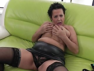 Doigter , Mamie , Lingerie , Mature, Chatte, Collants ,