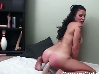 Big Tits, Leather, MILF, Paddling, Spanking, Tattoo,