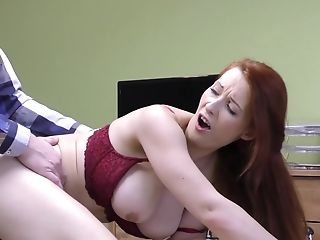 Amateur, Big Tits, Blowjob, Cum On Tits, Cumshot, Desk, Dick, Fake Tits, HD, Hidden Cam,