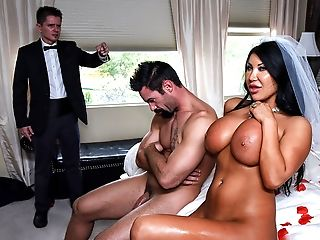 Babe, Bedroom, Big Tits, Bride, Brunette, Cheating, Chubby, Ethnic, Fake Tits, Husband,