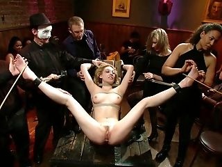 Abuse, American, BDSM, Blonde, Bondage, Domination, Group Sex, Hardcore, Humiliation, Lily Labeau,