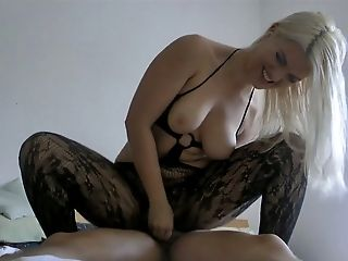 Ass, Blonde, Dick, Fishnet, Riding, Rough, Wife, Wild,