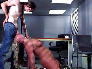 Big Tits, Blowjob, Cumshot, Deepthroat, Desk, Fake Tits, Hardcore, HD, MILF, Office,