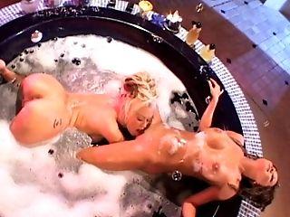 Babe, Bathroom, Big Tits, Ethnic, Fake Tits, Fingering, Gorgeous, Jenna Jameson, Lesbian, Licking,