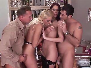 блондинки, лысый, милые, чешки, Denisa Heaven, групповой секс, в высоком разрешении, Marsha Lord, Orgy, рыжие,