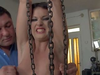Ass, Babe, BDSM, Blindfold, Bondage, Brunette, Casting, Enema, Exhibitionist, Femdom,