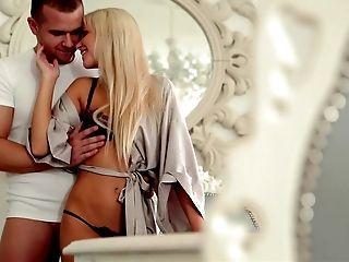 Ass, Babe, Beauty, Blonde, Couch, Cute, Czech, European, Gorgeous, Lingerie,