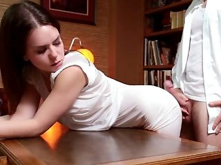 Babe, Beauty, Boss, Brunette, Cum, Cumshot, Desk, From Behind, Naughty, Religious,