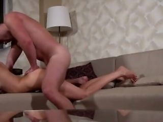 Amateur, Ass, Babe, Blowjob, Brunette, Couch, Cute, Fake Tits, HD, Sister,