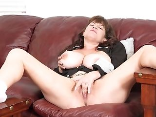 Babe, Big Tits, Brunette, Couch, Cunt, Extreme, Glasses, HD, Masturbation, Mature,