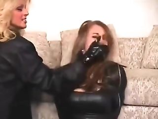 BDSM, Bound, Deepthroat, Fetish, Gagging, Lesbian, Mistress, Wife,