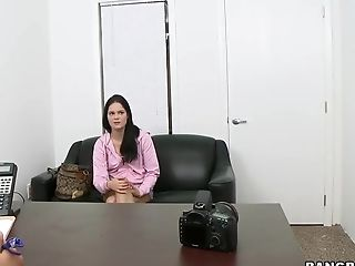 Backroom, Blowjob, Brunette, Casting, Cute, Facial, HD, Jenna J Ross, POV,