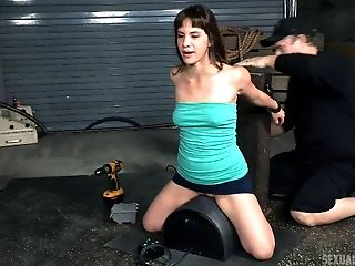 Babe, BDSM, Bondage, Fetish, Riding, Rough, Submissive, Sybian,