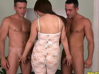 Blowjob, Ethnic, European, HD, Japanese, Karina Shay, Reality, Redhead, Threesome,